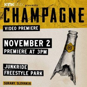 KINK CHAMPAGNE / SLOVENSKÁ PREMIÉRA 2.11.2019 / FREESTYLE PARK ŠURANY
