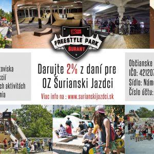 2% z daní pre Freestyle Park Šurany - OZ Šurianski jazdci